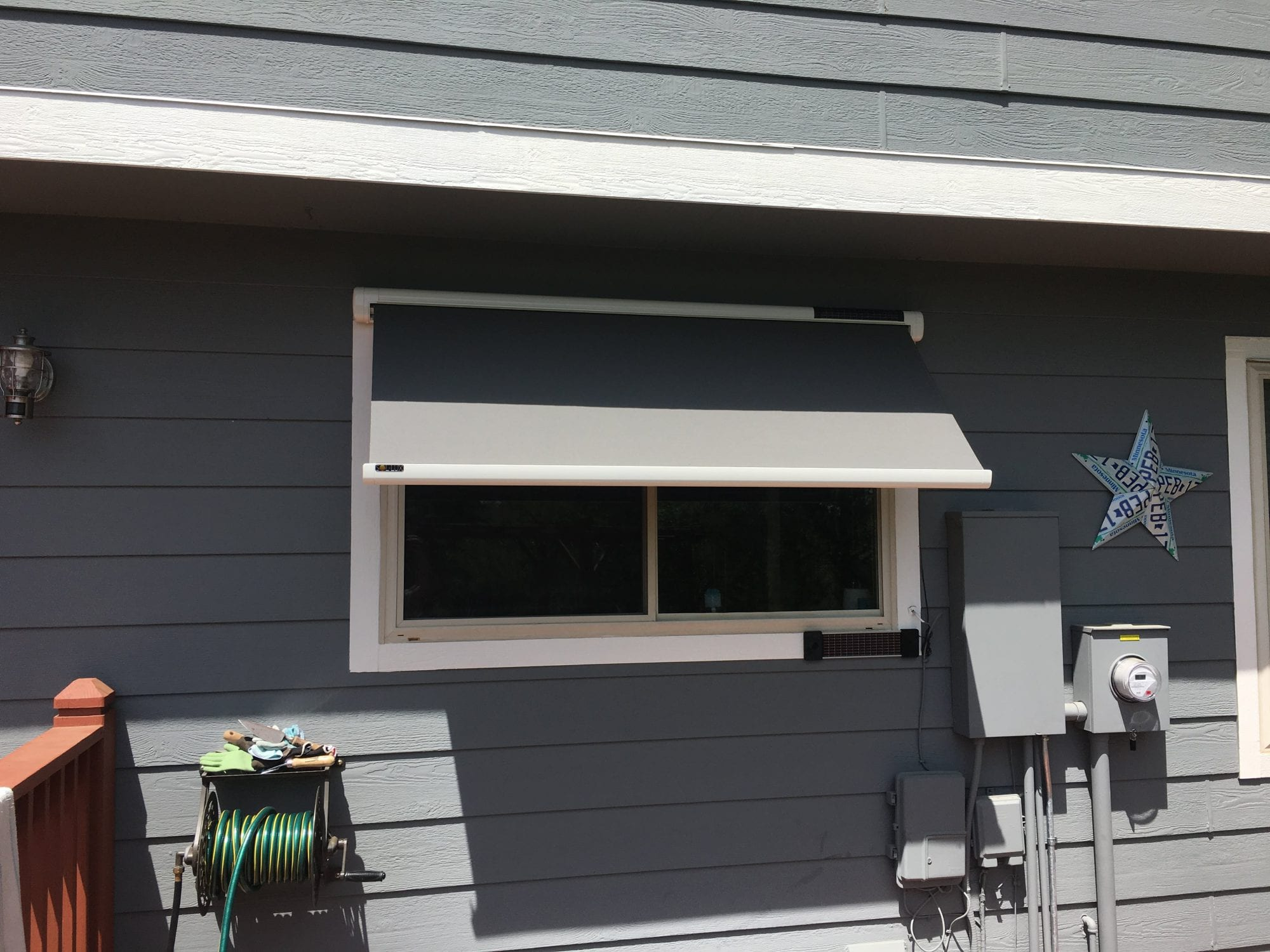 Gray Eos Smart Home Window Awning